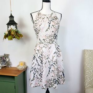 Mossimo High Neck Fit & Flare Camo Print Dress M